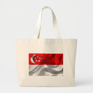singapore-Flag Large Tote Bag