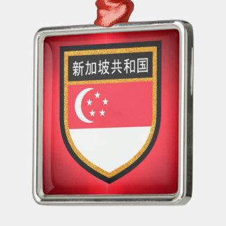 Singapore Flag Metal Ornament