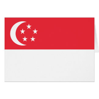 Singapore Flag Note Card