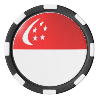 Singapore flag poker chips set