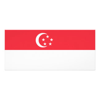 Singapore Flag Rack Card