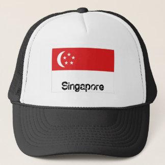 Singapore flag souvenir hat