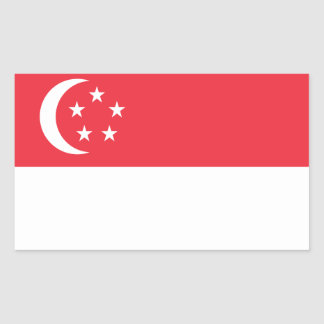 Singapore Flag Stickers* Rectangular Sticker