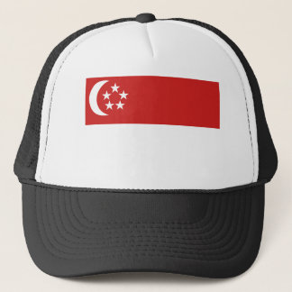 Singapore flag trucker hat
