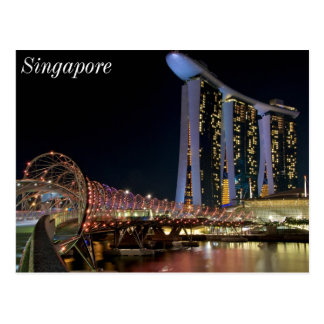 Singapore Helix Bridge on Marina Bay Sands Postcard