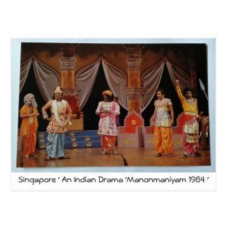 SINGAPORE INDIAN DRAMA POSTCARD