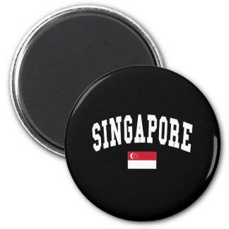 SINGAPORE 6 CM ROUND MAGNET