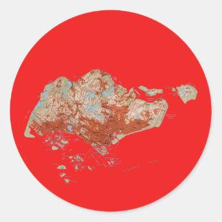 Singapore Map Sticker