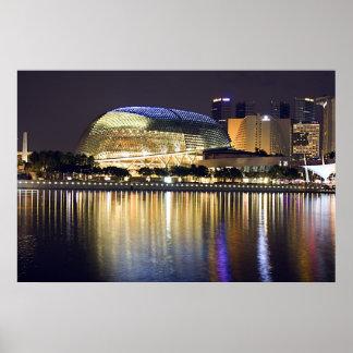Singapore Marina Bay at Night Poster