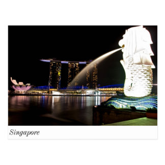 Singapore Merlion at Marina Bay Postcard