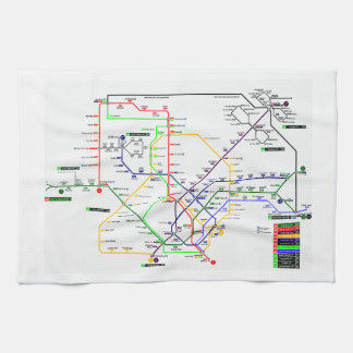 Singapore MRT Map - Kitchen Towel