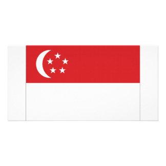 Singapore National Flag Photo Greeting Card