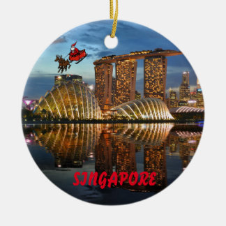 Singapore Panoramic Christmas Ornament