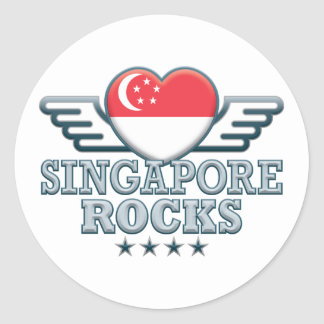 Singapore Rocks v2 Round Stickers