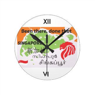 Singapore Round Clock