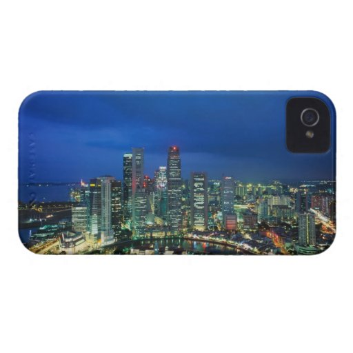 Singapore Skyline at night, Singapore Blackberry Bold Case