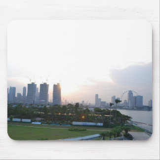 Singapore Skyline at Sunset Mouse Pad