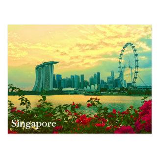 Singapore Skyline Postcard