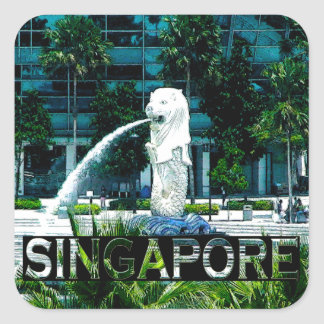 Singapore Square Sticker