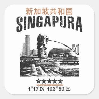 Singapore Square Sticker