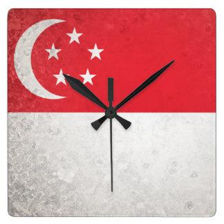 Singapore Square Wall Clock