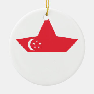 Singapore Star Ceramic Ornament