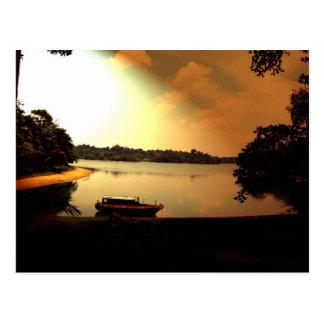 Singapore Sunset Postcard