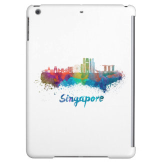 Singapore V2 skyline in watercolor