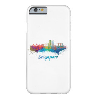 Singapore V2 skyline in watercolor Barely There iPhone 6 Case