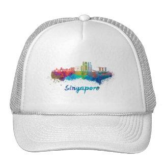 Singapore V2 skyline in watercolor Cap