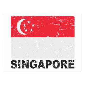 Singapore Vintage Flag Postcard