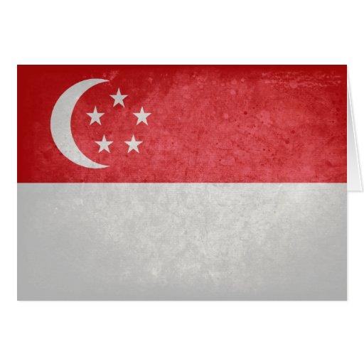 Singaporean Flag Card
