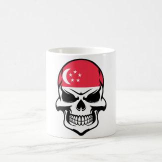 Singaporean Flag Skull Coffee Mug