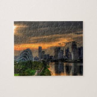 Singaporecity Goldenhour Jigsaw Puzzle