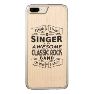 SINGER awesome classic rock band (blk) Carved iPhone 8 Plus/7 Plus Case