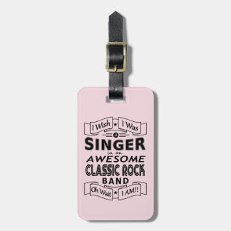 SINGER awesome classic rock band (blk) Luggage Tag