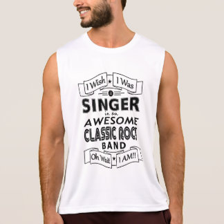 SINGER awesome classic rock band (blk) Singlet