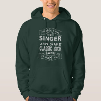SINGER awesome classic rock band (wht) Hoodie