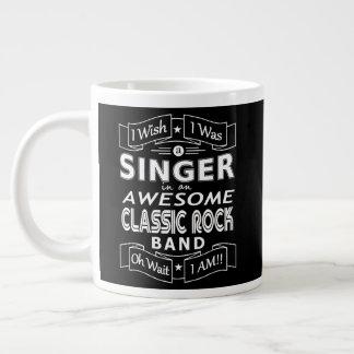 SINGER awesome classic rock band (wht) Large Coffee Mug