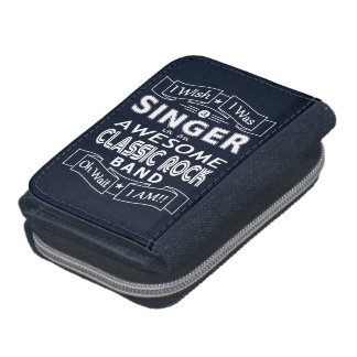 SINGER awesome classic rock band (wht) Wallets