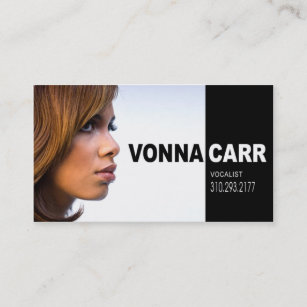 Musician business cards zazzle au singer headshot for vocalist musician business card colourmoves