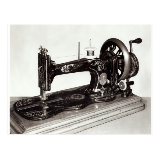 Singer 'New Family' sewing machine, 1865 Post Card