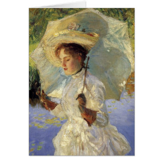Singer Sargent Morning Walk (detail) CC0437 Card