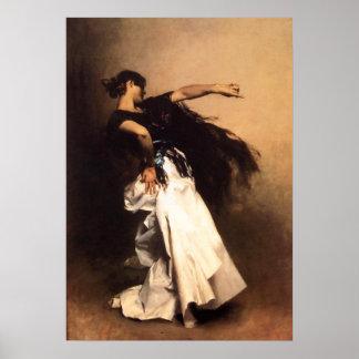 Singer Sargent Spanish Dancer Poster