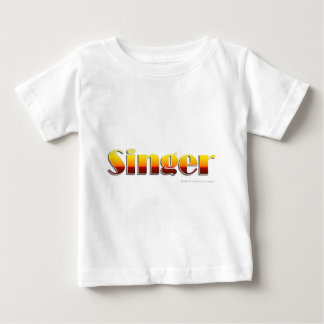 Singer (Text Only) Baby T-Shirt