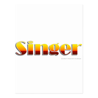 Singer (Text Only) Postcard