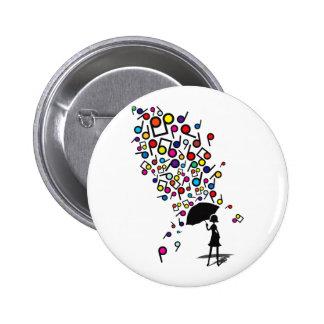 Singin' in the Rain 6 Cm Round Badge