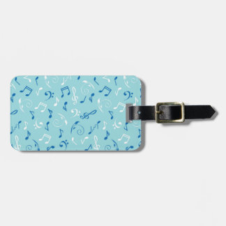 Singin the Blues Musical Pattern Luggage Tag
