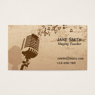 Singing and Vocal coach Music Teacher freelance Business Card