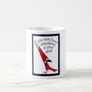 singing bird, celebration coffee mug